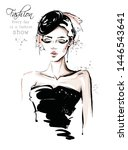 hand drawn beautiful young... | Shutterstock .eps vector #1446543641