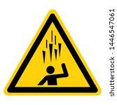 falling ice symbol sign  vector ... | Shutterstock .eps vector #1446547061