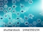 new human resources icons... | Shutterstock .eps vector #1446550154