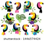 vector collection of bright and ... | Shutterstock .eps vector #1446574424