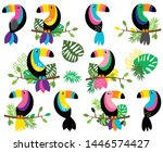 vector collection of bright and ... | Shutterstock .eps vector #1446574427