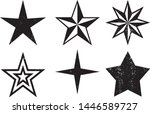 grunge stars stamps collection. ... | Shutterstock .eps vector #1446589727