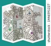 design map city gps with... | Shutterstock .eps vector #1446591227