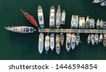 aerial top view photo of boats... | Shutterstock . vector #1446594854