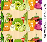 seamless funny vegetable... | Shutterstock .eps vector #144661775