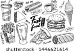 fast food  burger and hamburger ... | Shutterstock .eps vector #1446621614
