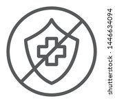 uninsured line icon  protection ... | Shutterstock .eps vector #1446634094