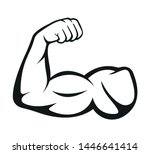 biceps. muscle icon. vector...   Shutterstock .eps vector #1446641414