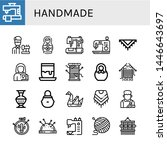 set of handmade icons such as... | Shutterstock .eps vector #1446643697