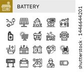 set of battery icons such as... | Shutterstock .eps vector #1446644201
