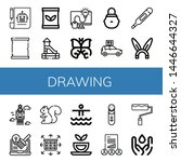 set of drawing icons such as... | Shutterstock .eps vector #1446644327