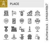 Set Of Place Icons Such As...