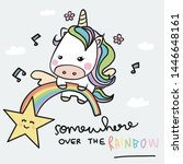 Unicorn And Rainbow  Somewhere...