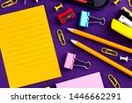 school office supplies... | Shutterstock . vector #1446662291