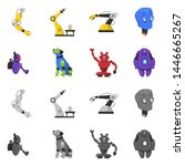 bitmap illustration of robot... | Shutterstock . vector #1446665267