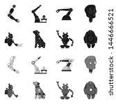 bitmap design of robot and... | Shutterstock . vector #1446666521