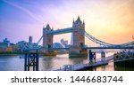 Small photo of Tower Bridge across the River Thames in London, UK.