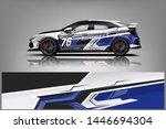 car wrap design vector  truck... | Shutterstock .eps vector #1446694304