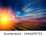 abstract motion blur city for... | Shutterstock . vector #1446699731