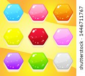 jelly shape hexagon nine color...