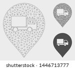 mesh lorry marker model with... | Shutterstock .eps vector #1446713777