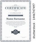 certificate of appreciation...   Shutterstock .eps vector #1446747497