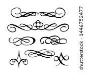 decorative monograms and...   Shutterstock . vector #1446752477