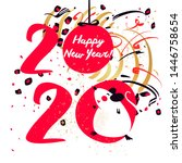 chinese happy new year 2020.... | Shutterstock .eps vector #1446758654