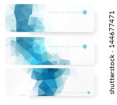 website header or banner set | Shutterstock .eps vector #144677471
