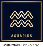 zodiac sign. aquarius.... | Shutterstock .eps vector #1446774764