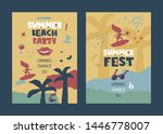 summer beach party  summer fest ... | Shutterstock .eps vector #1446778007