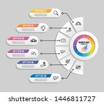 vector infographic design... | Shutterstock .eps vector #1446811727