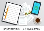 accounting  bookkeeping ...   Shutterstock . vector #1446815987
