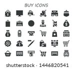 buy icon set. 30 filled buy... | Shutterstock .eps vector #1446820541