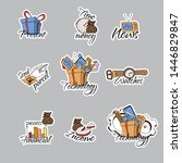 back to school stickers. signs  ... | Shutterstock .eps vector #1446829847