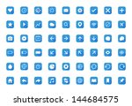 universal outline blue rounded... | Shutterstock .eps vector #144684575