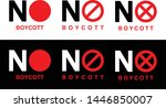 boycott red sign on black and... | Shutterstock .eps vector #1446850007