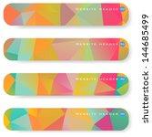 abstract vector banner   Shutterstock .eps vector #144685499