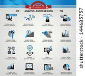 business analysis concept icons ... | Shutterstock .eps vector #144685757
