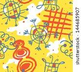 bright cheerful vector seamless ... | Shutterstock .eps vector #144685907