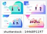 protesting people website... | Shutterstock .eps vector #1446891197