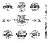 set of coffee shop sketches and ... | Shutterstock .eps vector #144689219