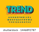 vector of stylized modern font... | Shutterstock .eps vector #1446892787