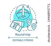 round trip concept icon. return ...   Shutterstock .eps vector #1446893771