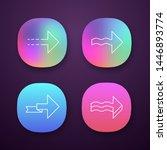 forward arrows app icons set....