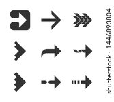 right arrows glyph icons set.... | Shutterstock .eps vector #1446893804