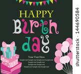 happy birthday card design.... | Shutterstock .eps vector #144690584