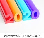 2020 happy new year   colorful... | Shutterstock . vector #1446906074