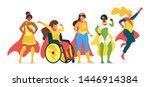 superwomen flat vector...   Shutterstock .eps vector #1446914384