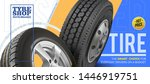 wheel truck and car. flyer.... | Shutterstock .eps vector #1446919751